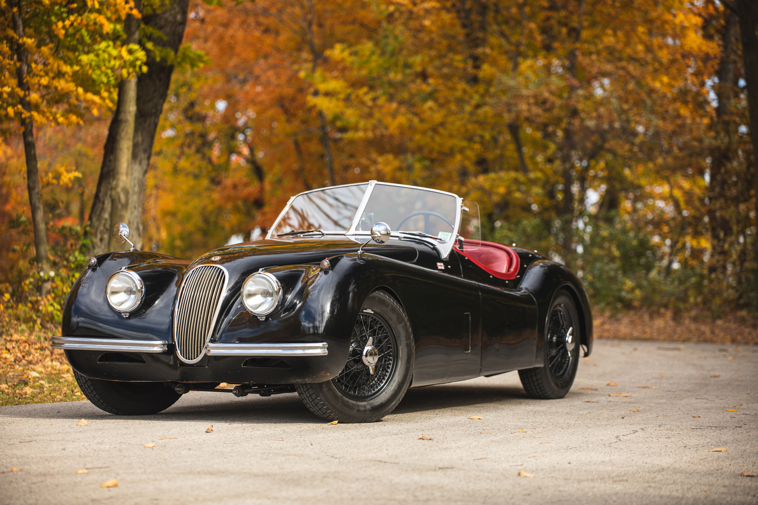 Jag XK120 front three-quarter