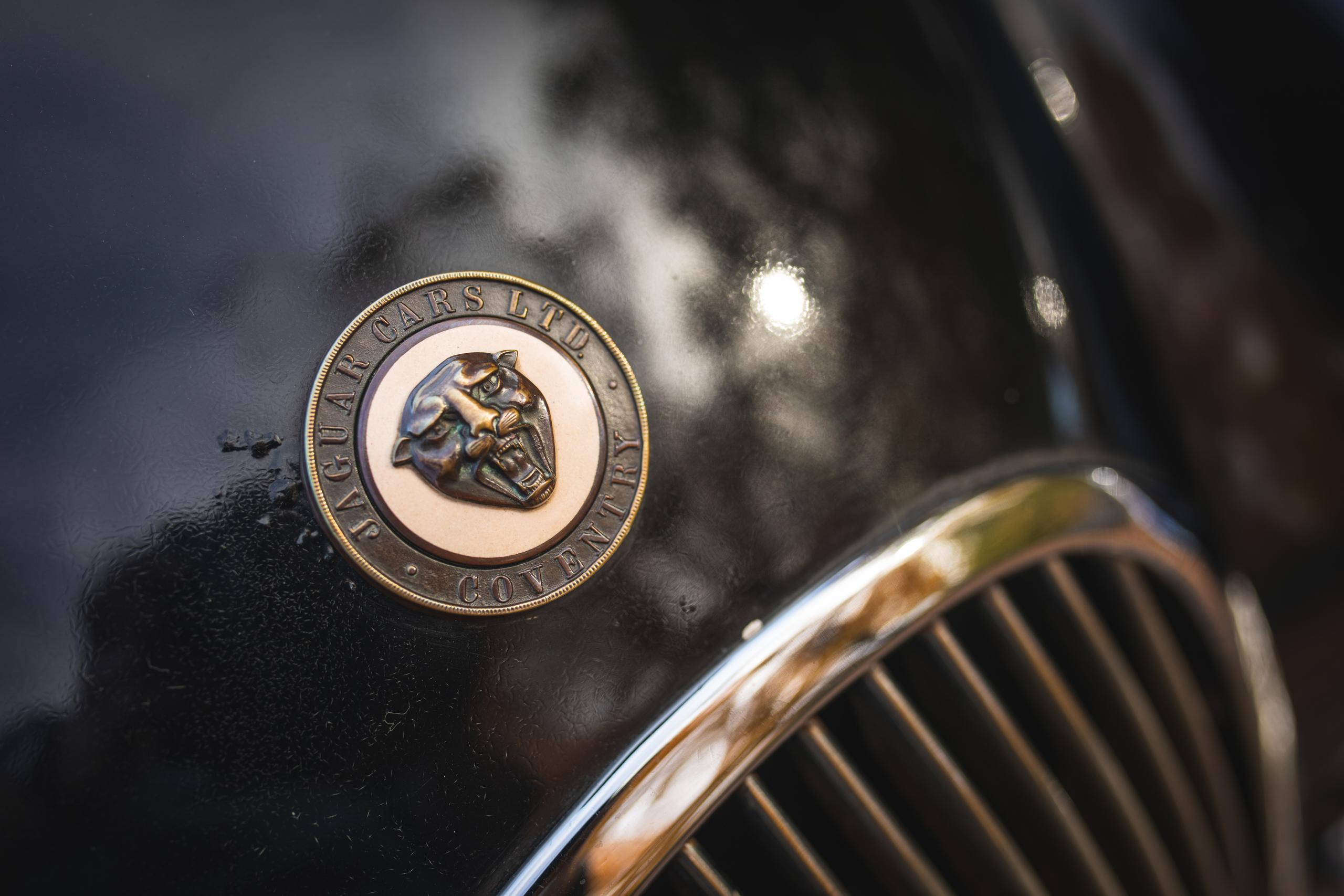 Jag XK120 emblem logo detail
