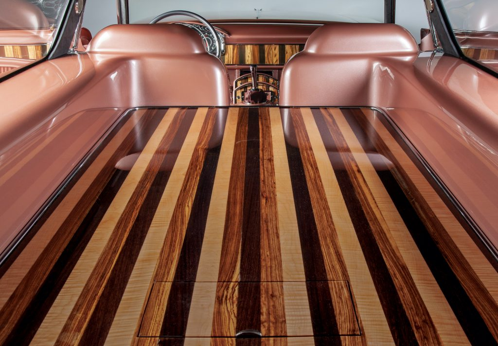 CadMad ridler winner interior rear cabin wood panelling