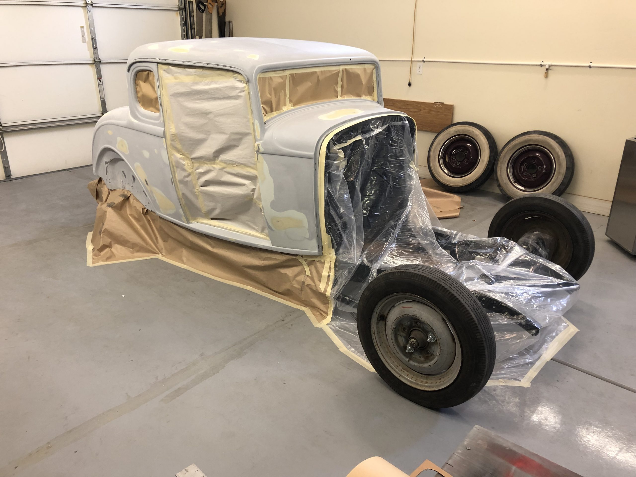 Ford 5-Window Coupe project mask and tape