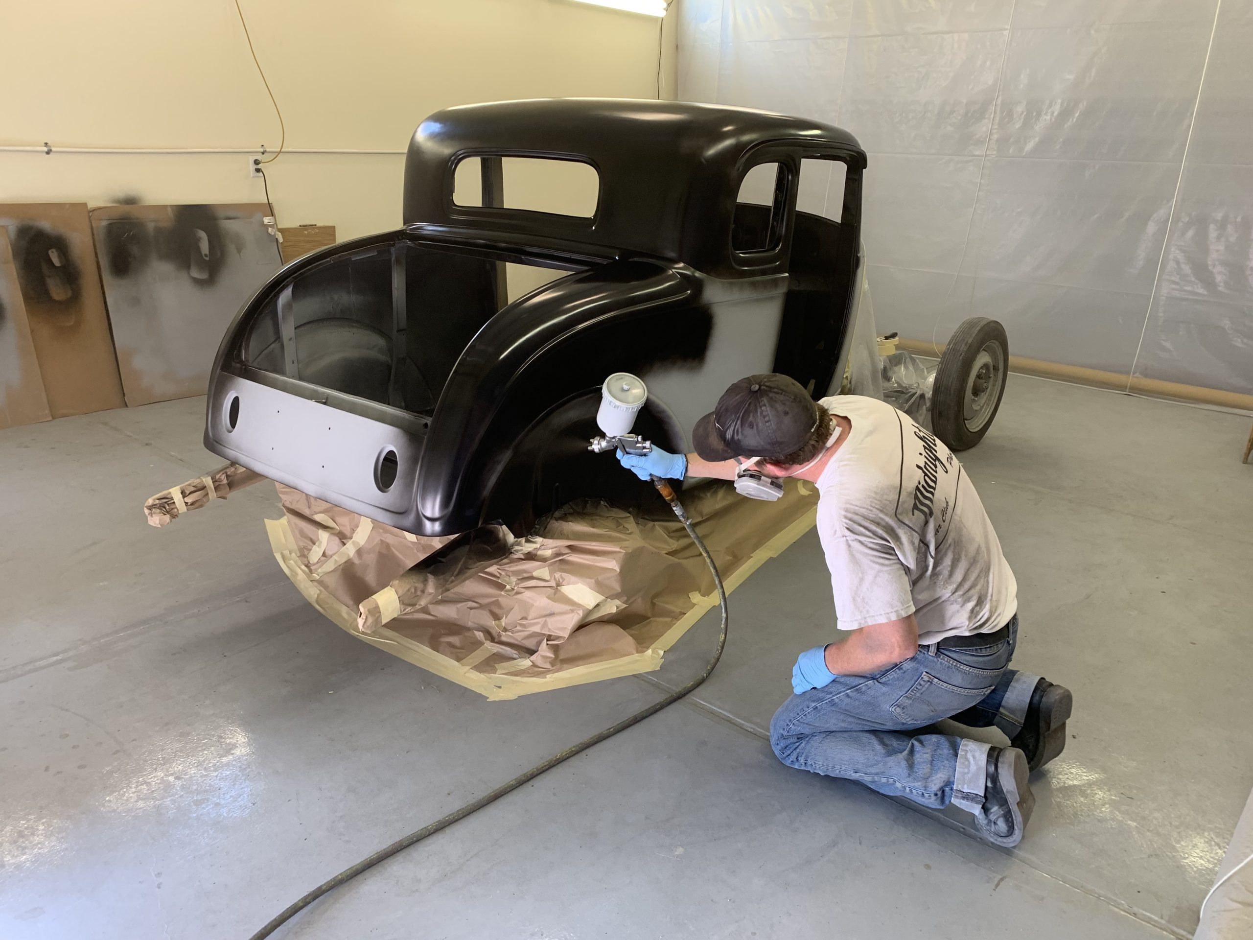 Ford 5-Window Coupe project paint work