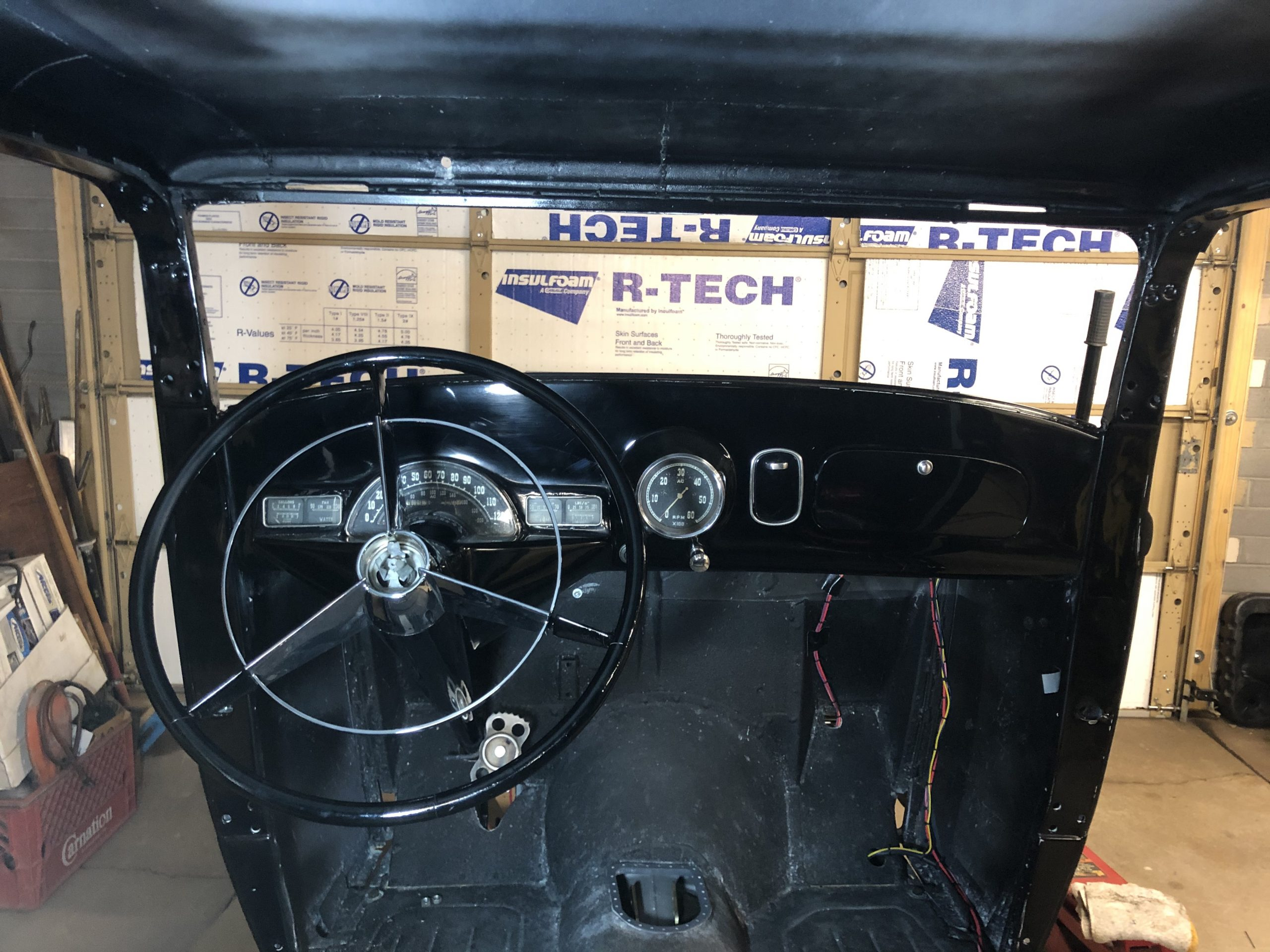 Ford 5-Window Coupe project interior