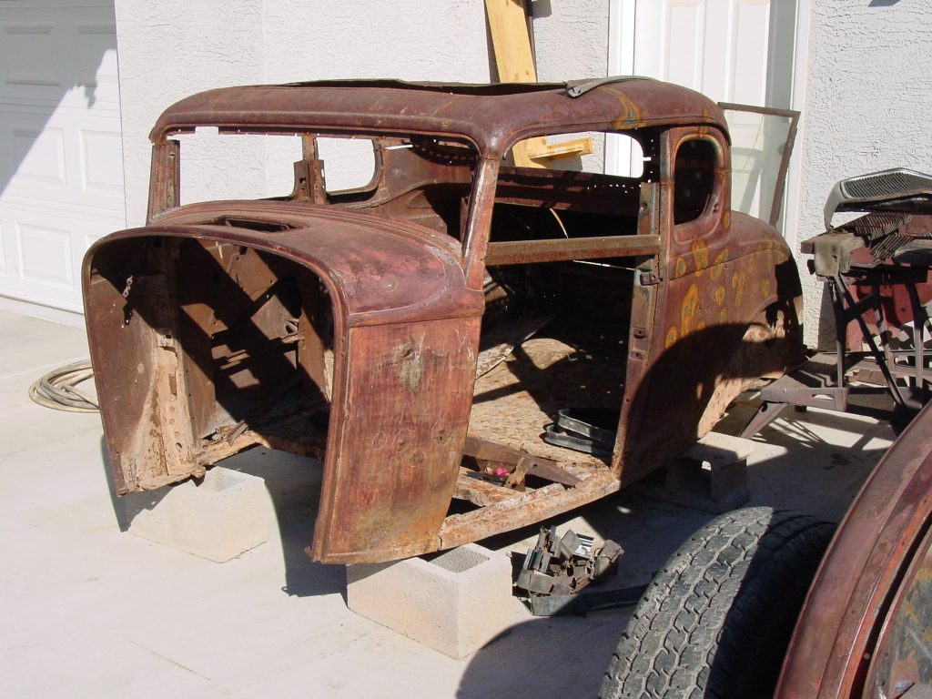 Ford 5-Window Coupe rusty original body