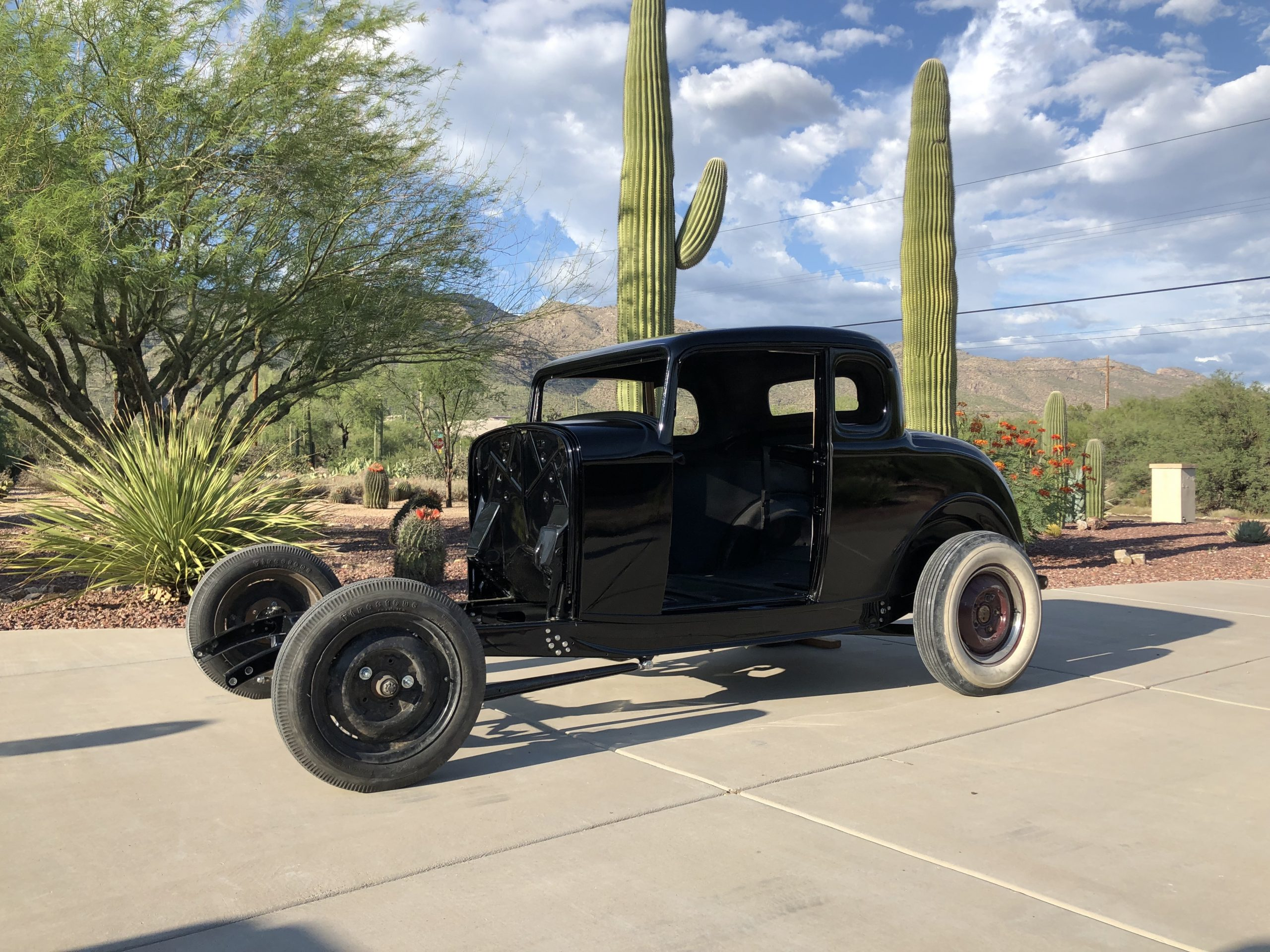 Ford 5-Window Coupe project painted black