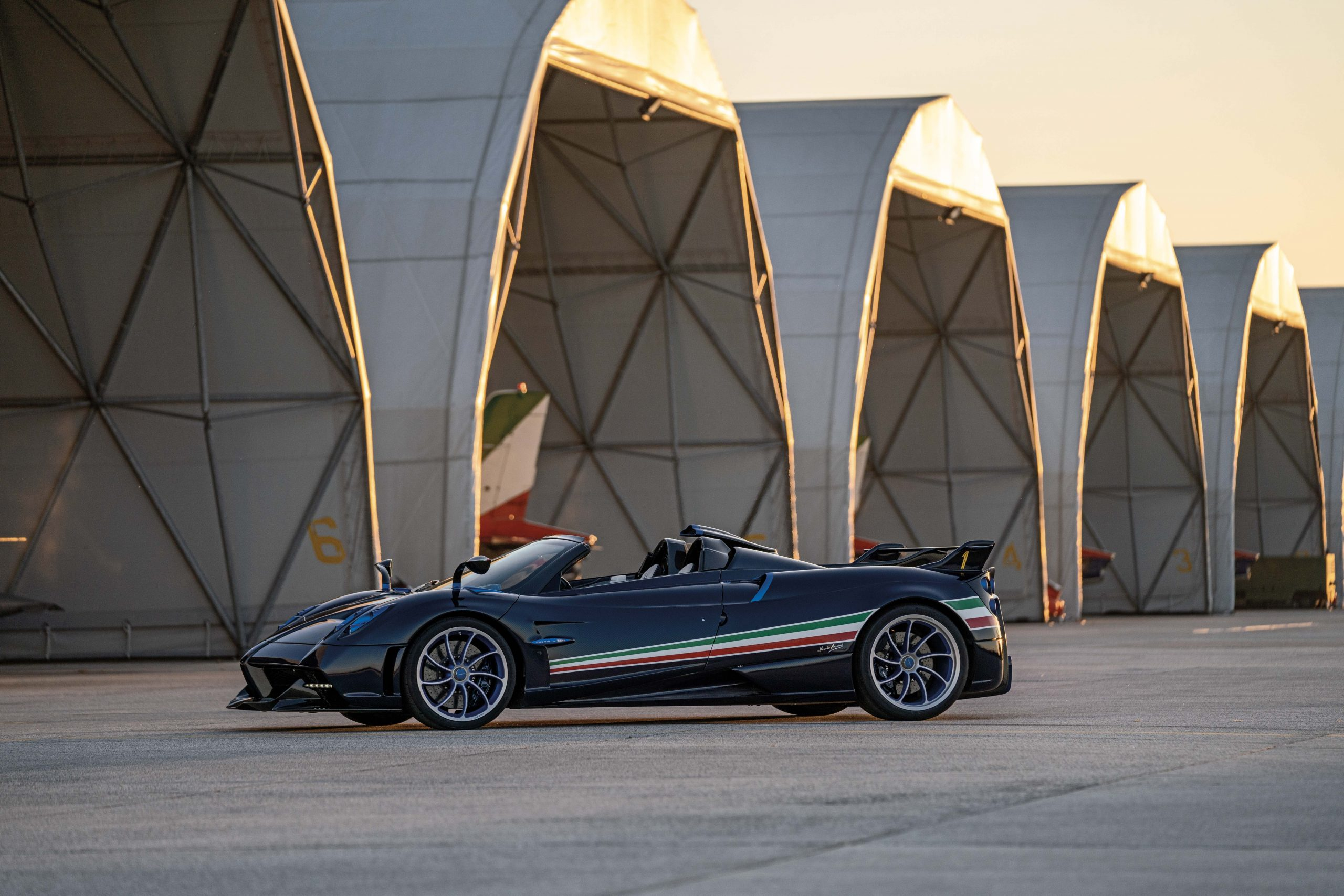 Pagani Huayra Tricolore front three-quarter