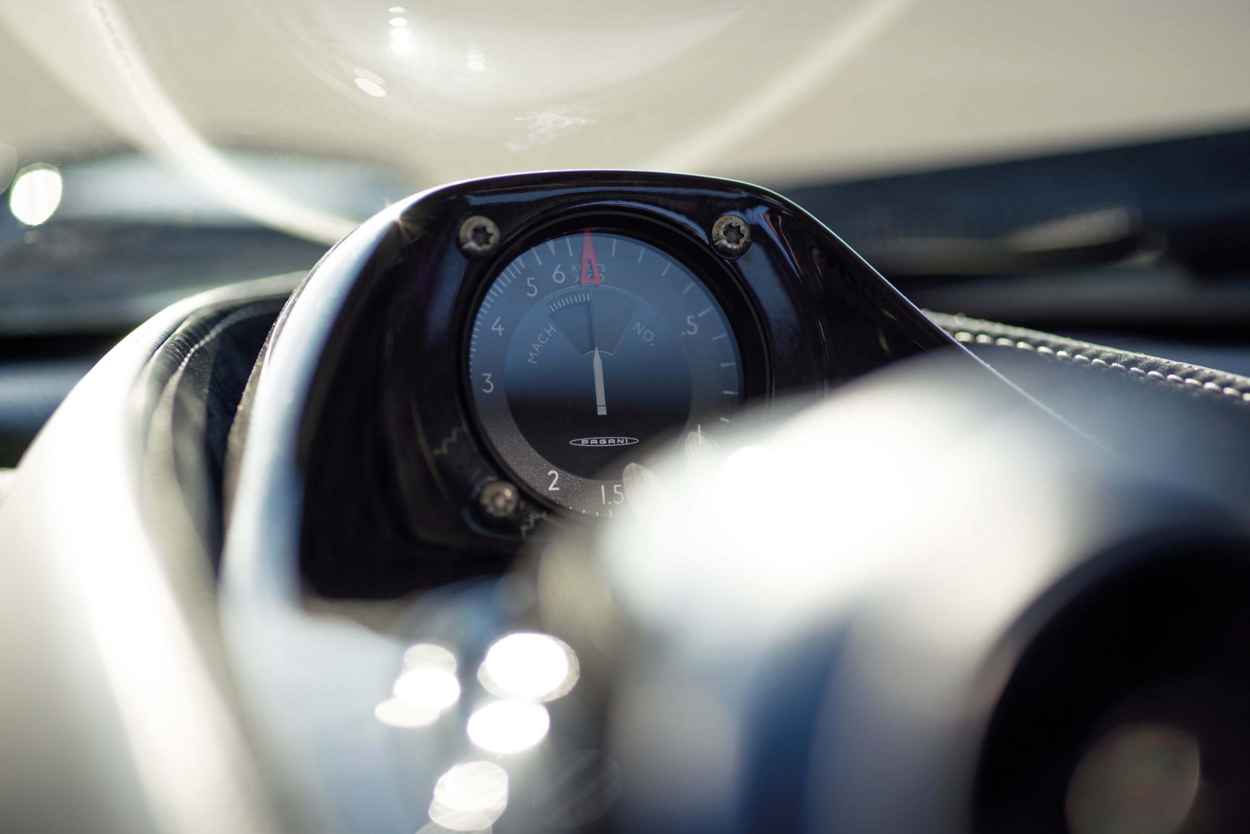 Pagani Huayra Tricolore gauge detail
