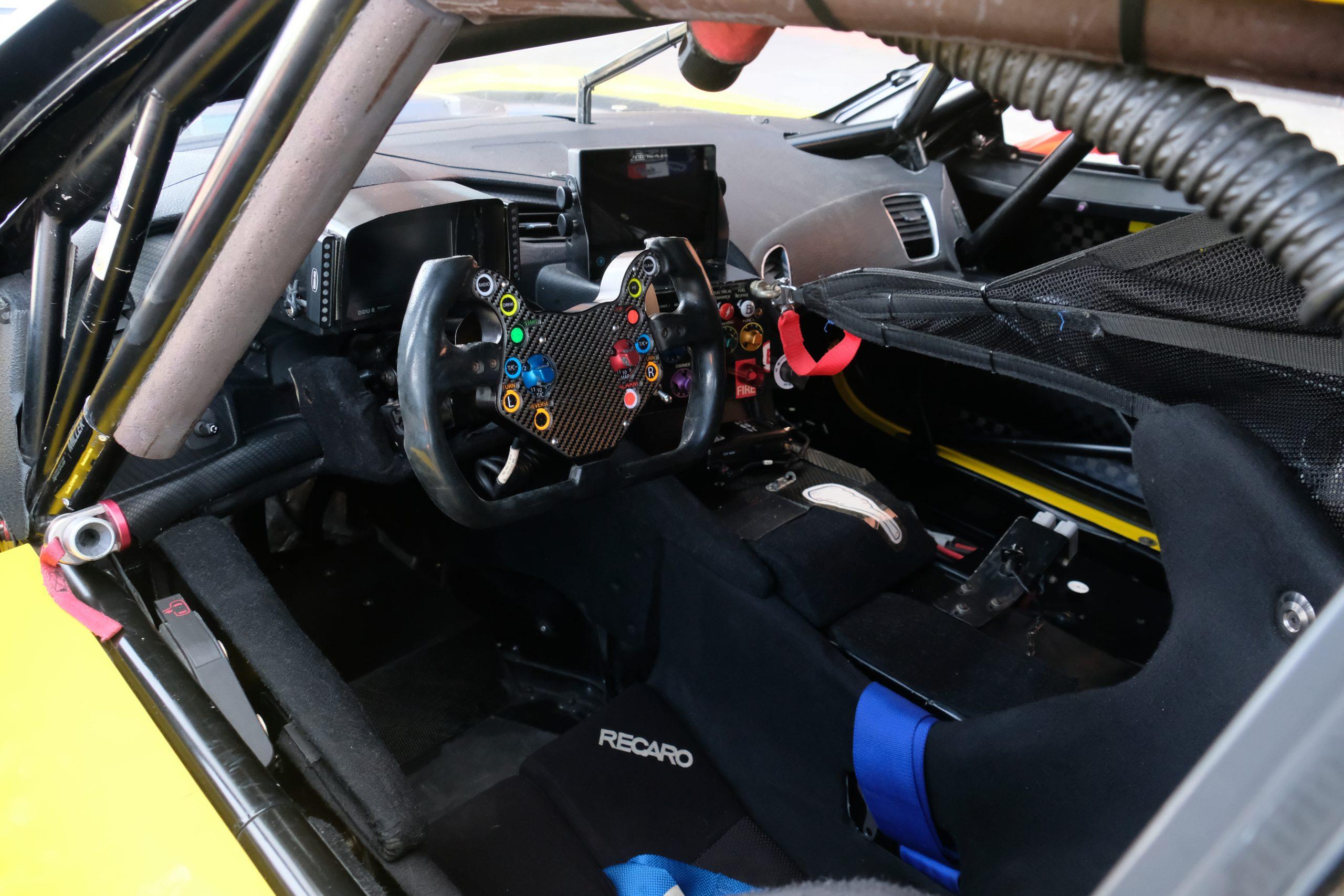 2015 corvette c7.r interior drivers cockpit