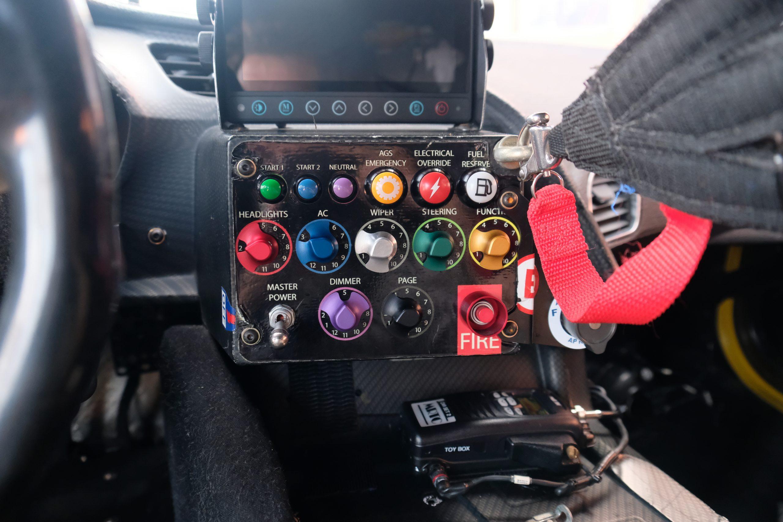 2015 corvette c7.r control panel