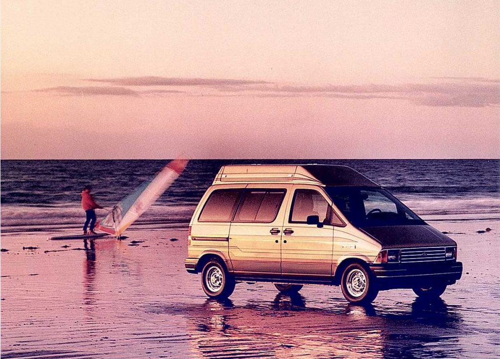 Ford Aerostar Van ad magazine cover art