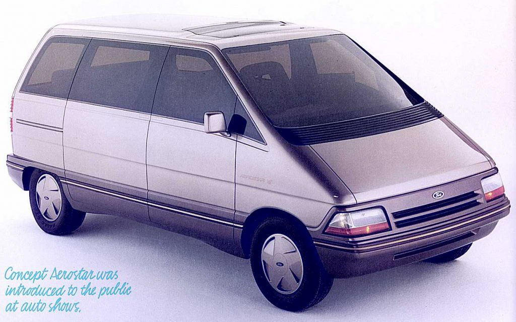 Ford Aerostar Van front three-quarter ad