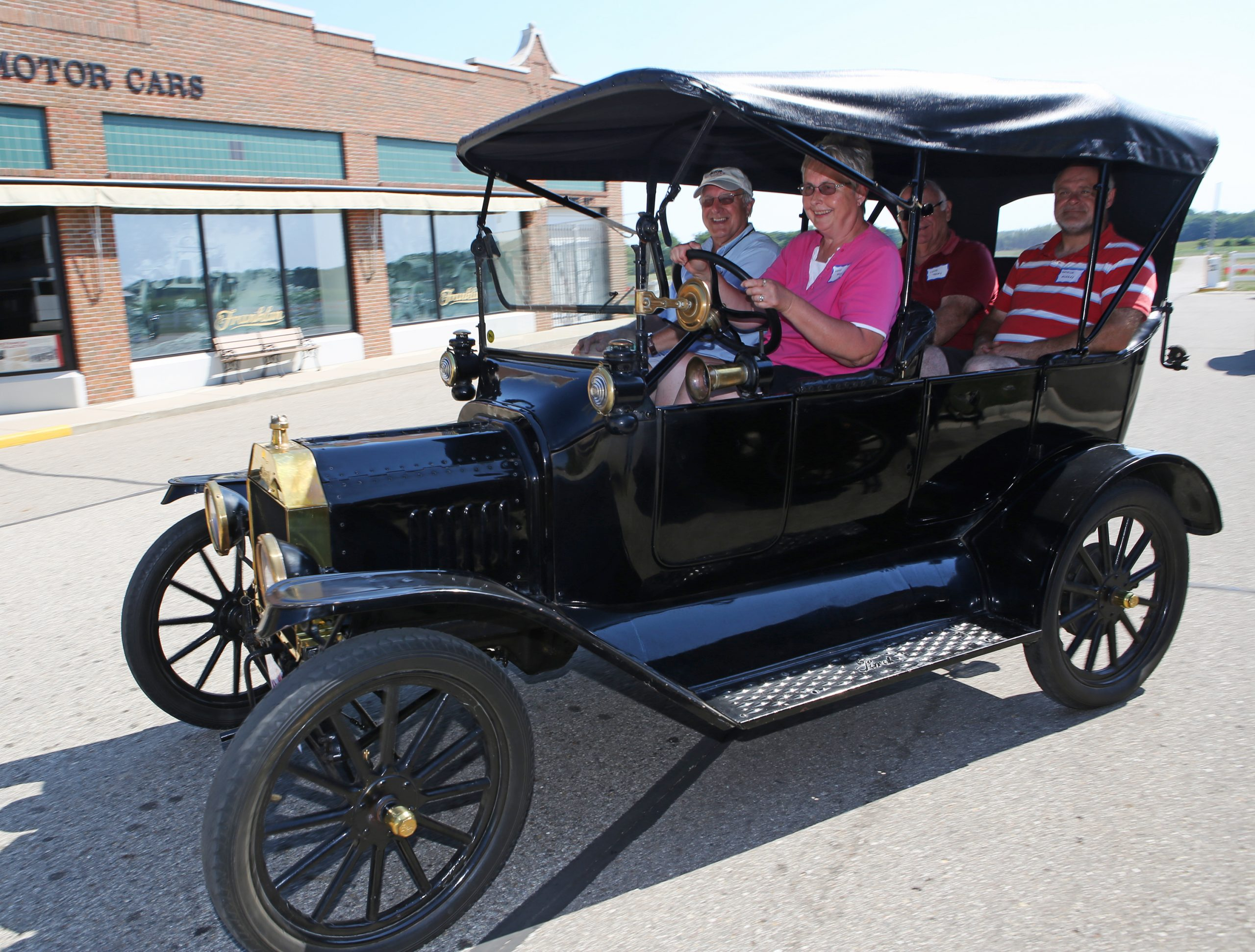 Ford Model T students driving