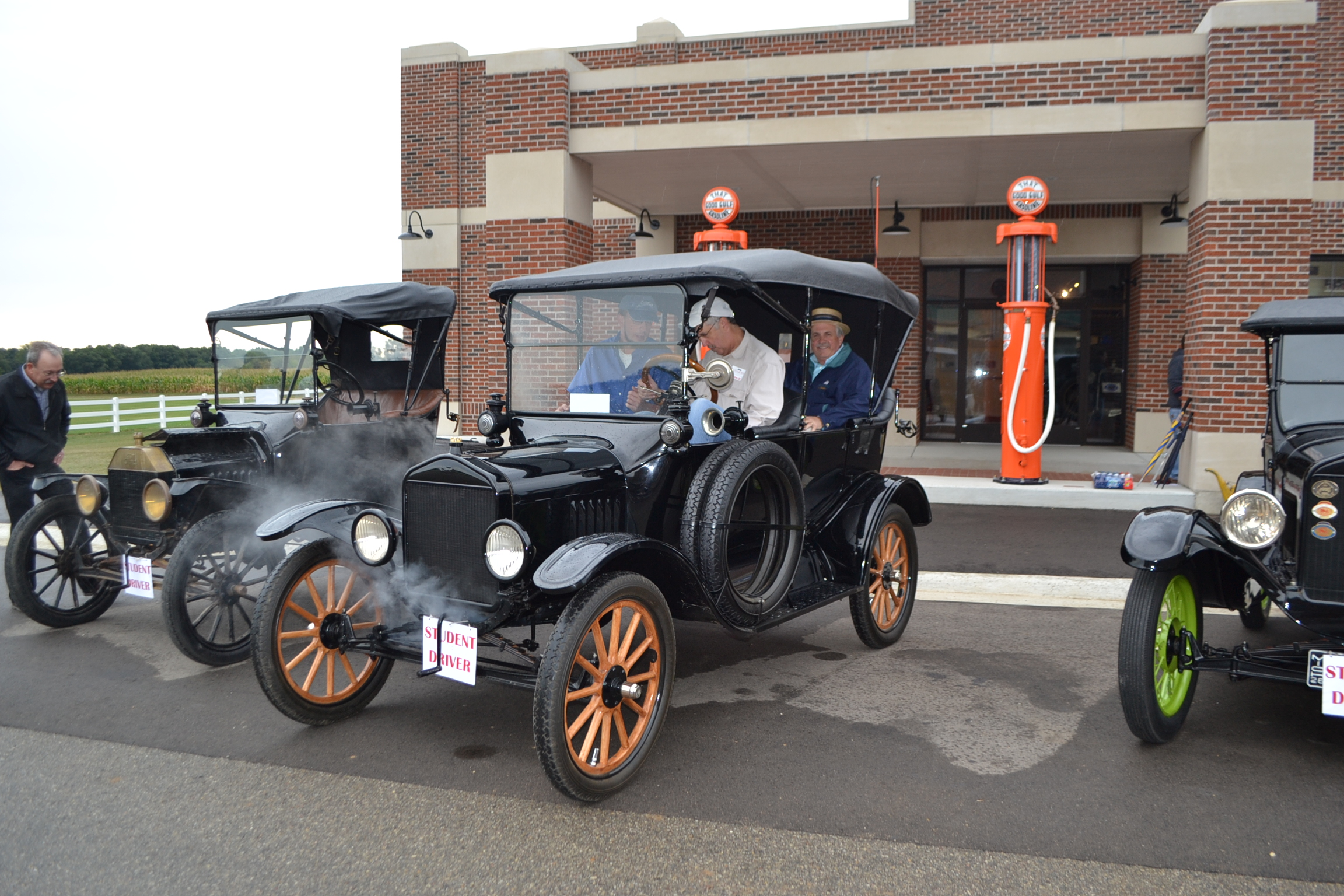 Ford Model T warming up