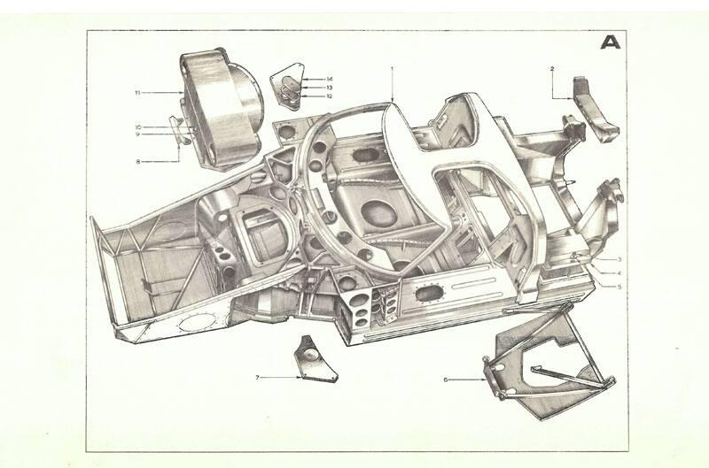 Ford GT40 Development body infrastructure