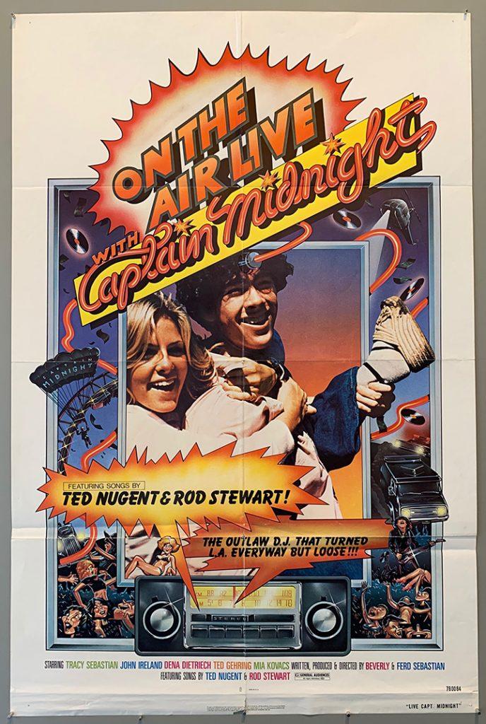 Captain Midnight 1979 van poster brochure ad art