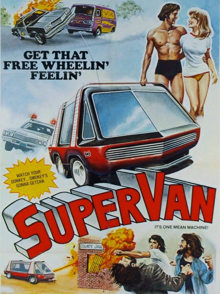 Super Van 1977 movie poster brochure ad art
