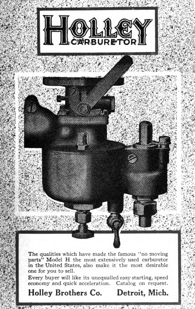 holley carb vintage ad in automobile trade journal