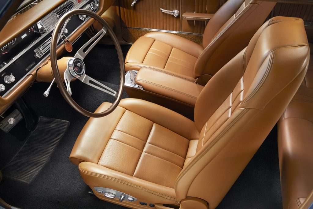 heated and cooled saddle brown leather seats
