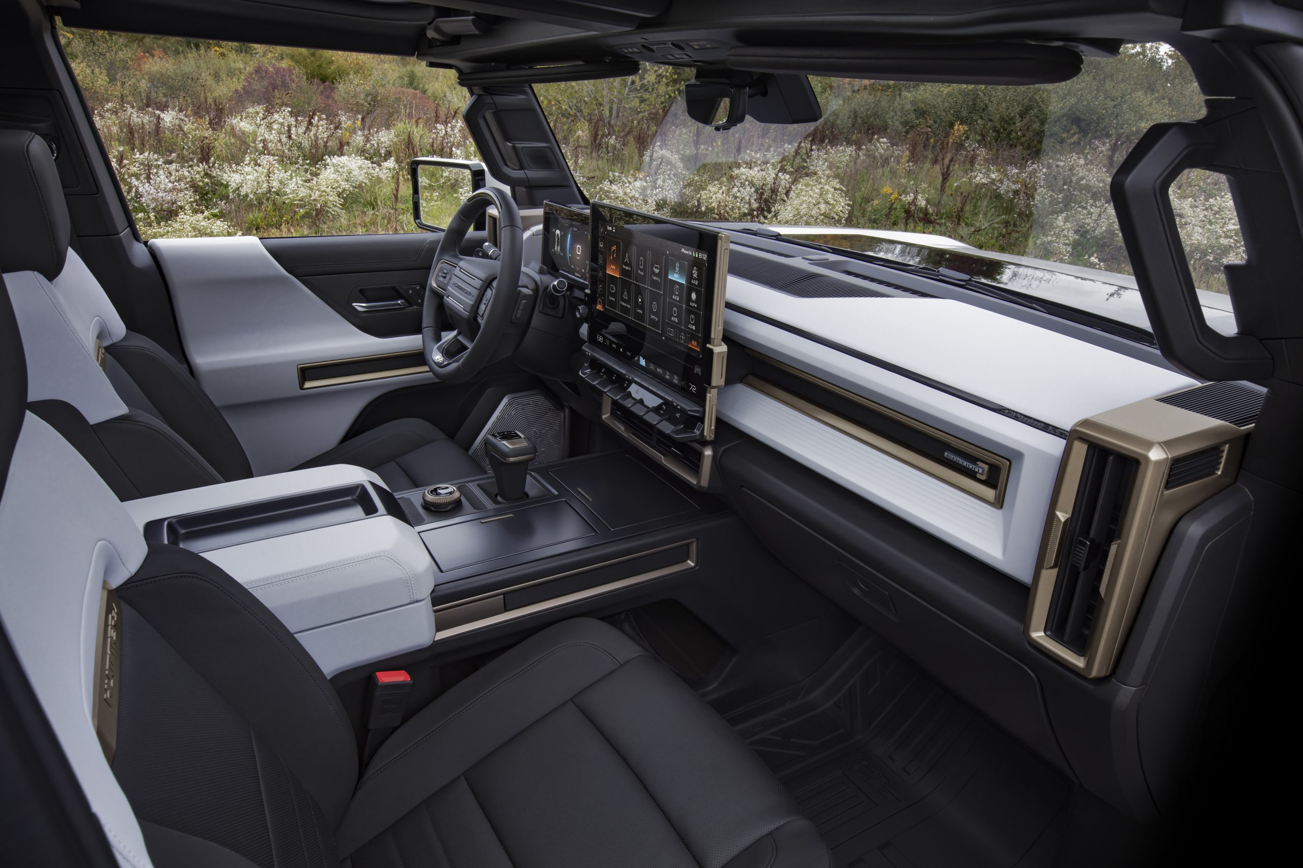 GMC HUMMER EV interior front dash