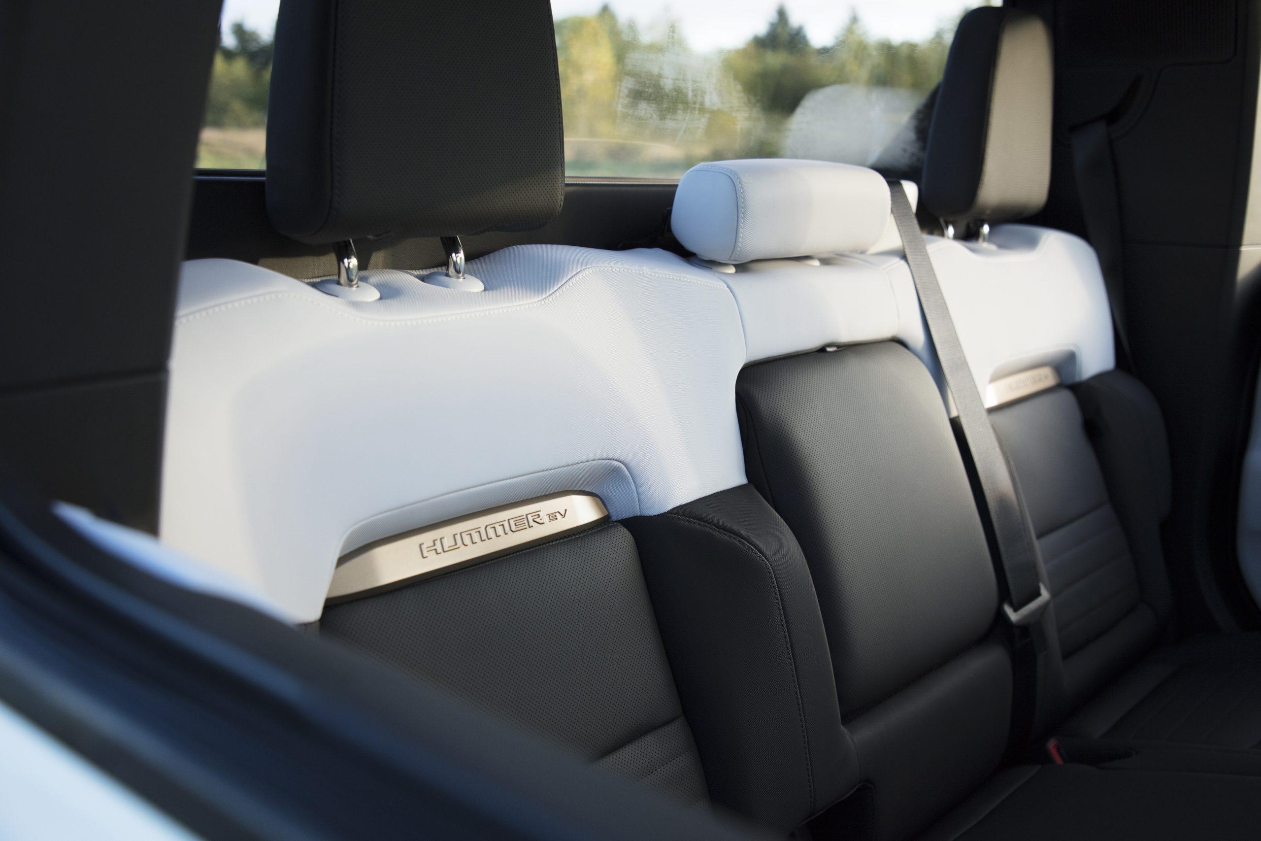 GMC HUMMER EV interior rear seat