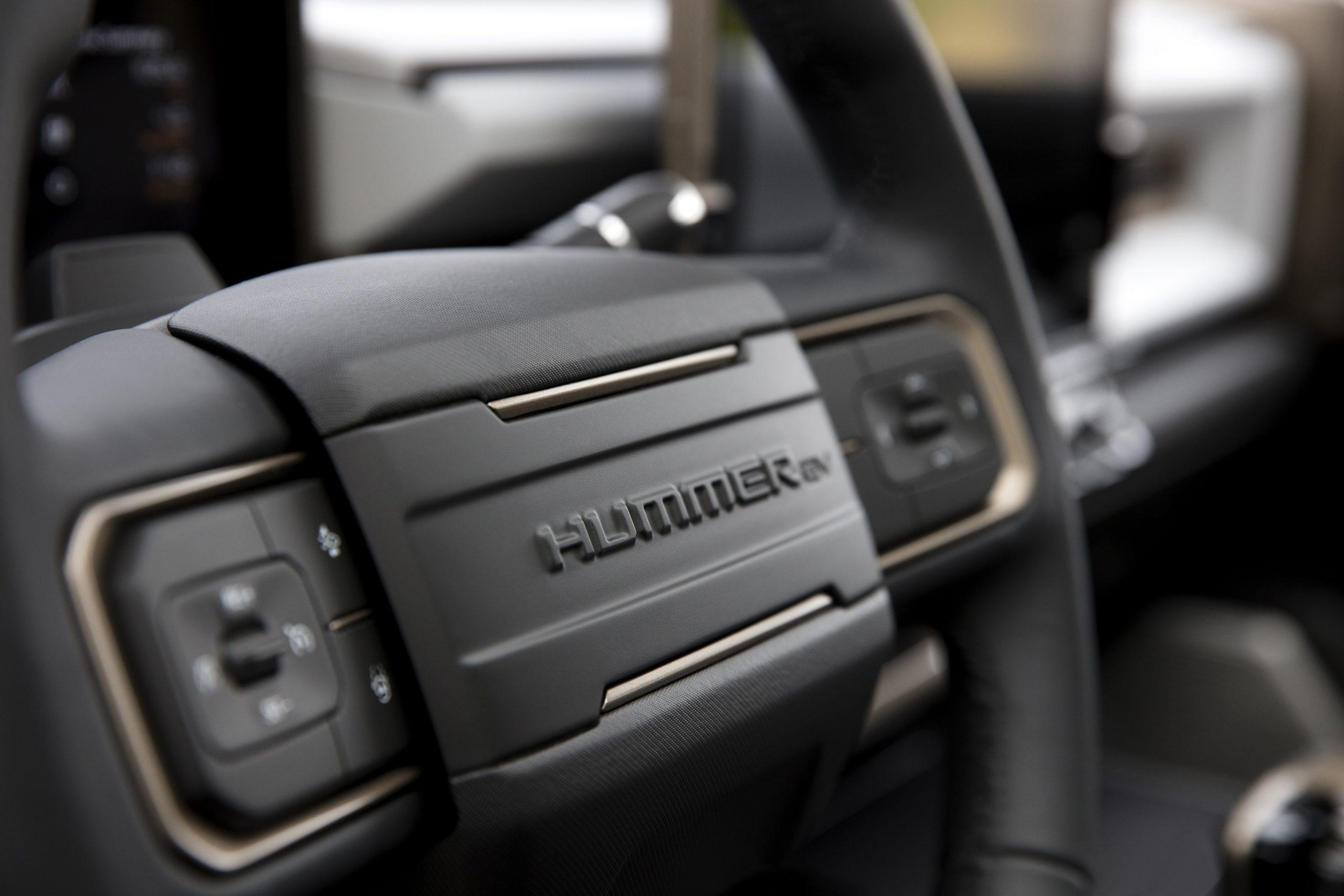 GMC HUMMER EV interior steering wheel