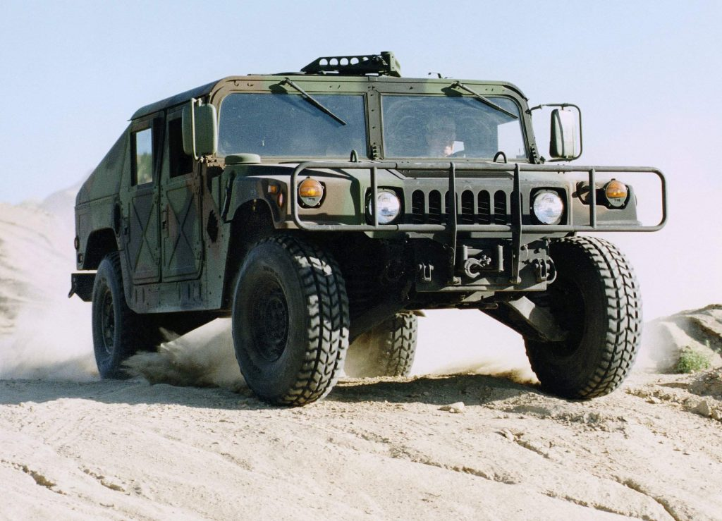 Hummer HMMWV front three-quarter action