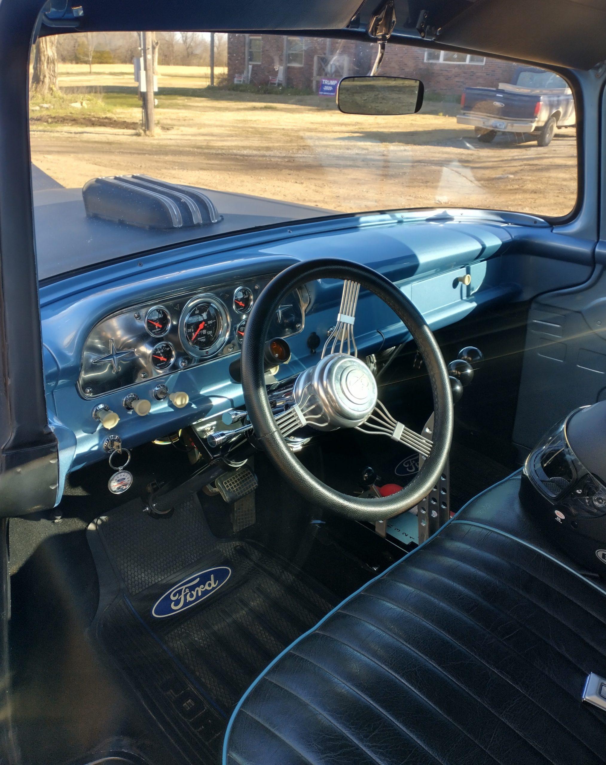 1959 F100 street rod interior