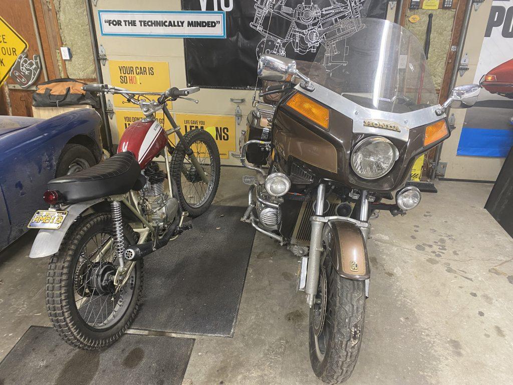 Honda SL125 and Goldwing