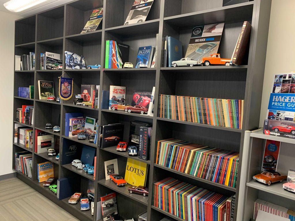 Bookshelf in Hagerty Meeting room