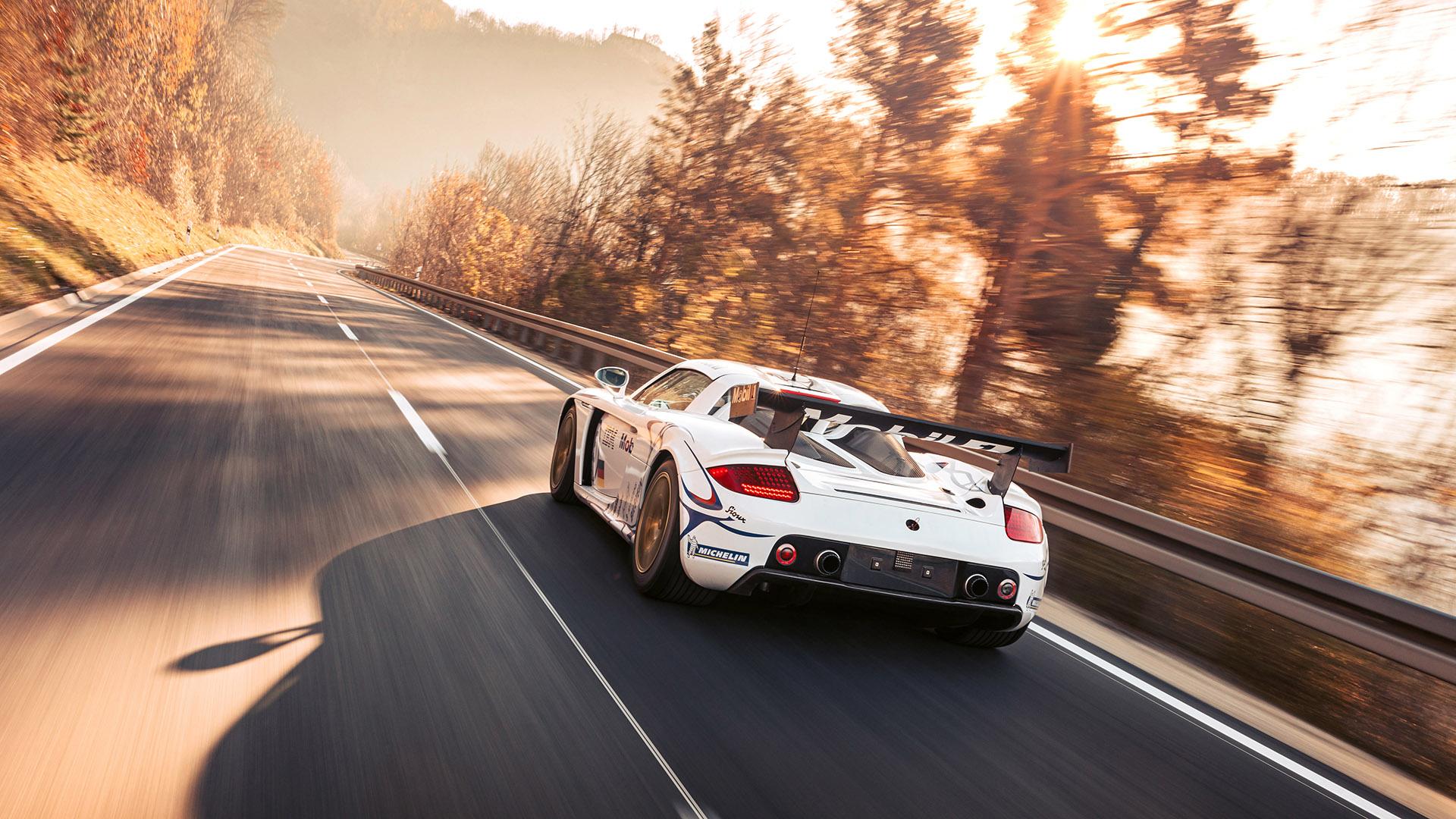 Carrera GT Racecar rear three-quarter action