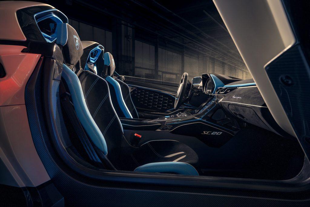 Lamborghini SC20 interior seats