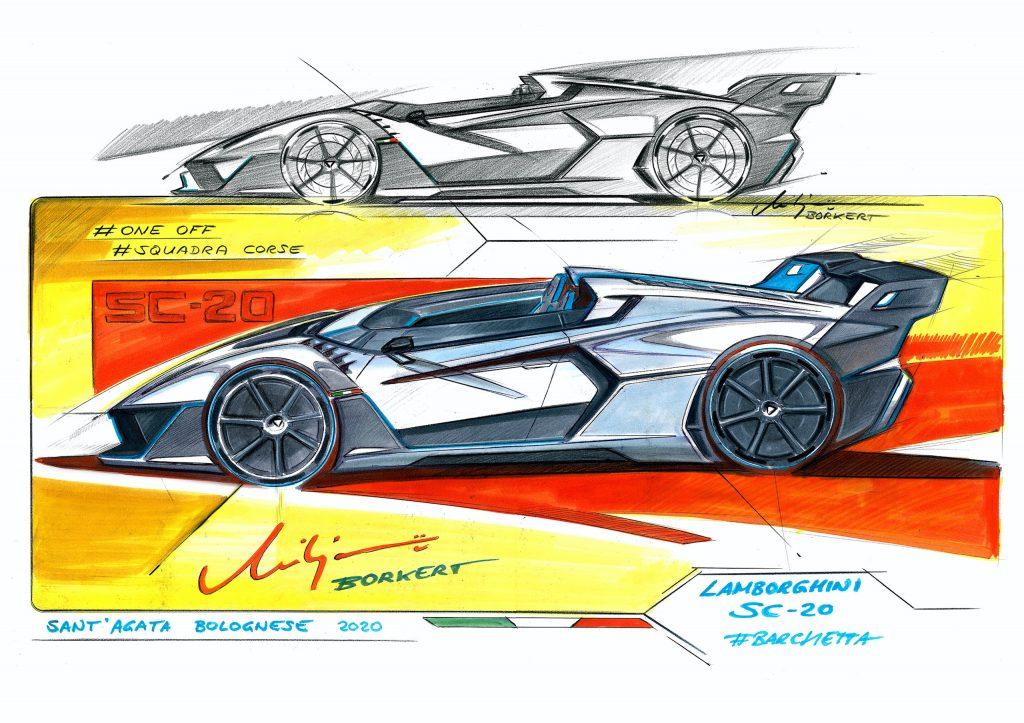 Lamborghini SC20 sketches