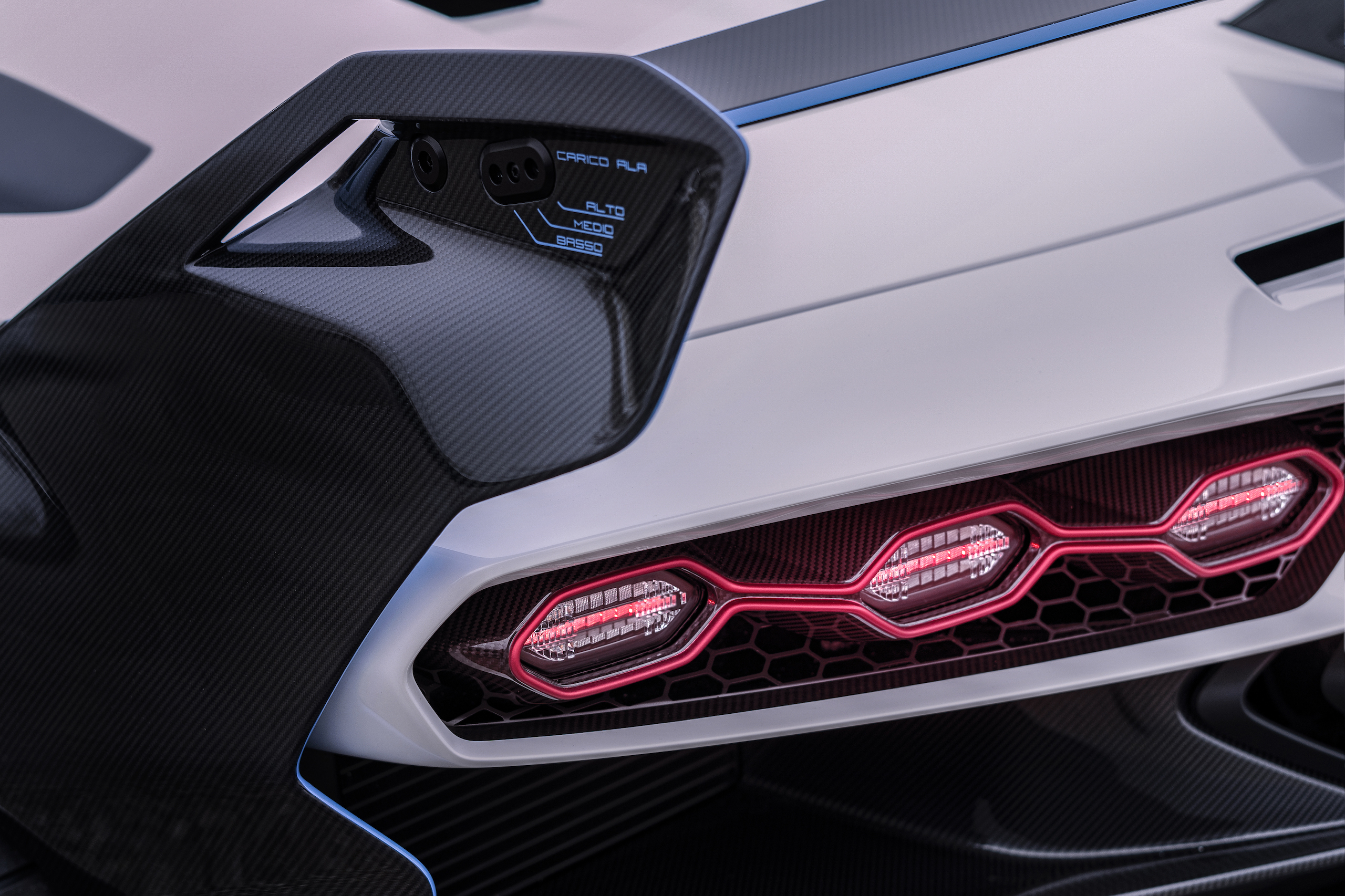 Lamborghini SC20 rear wing detail