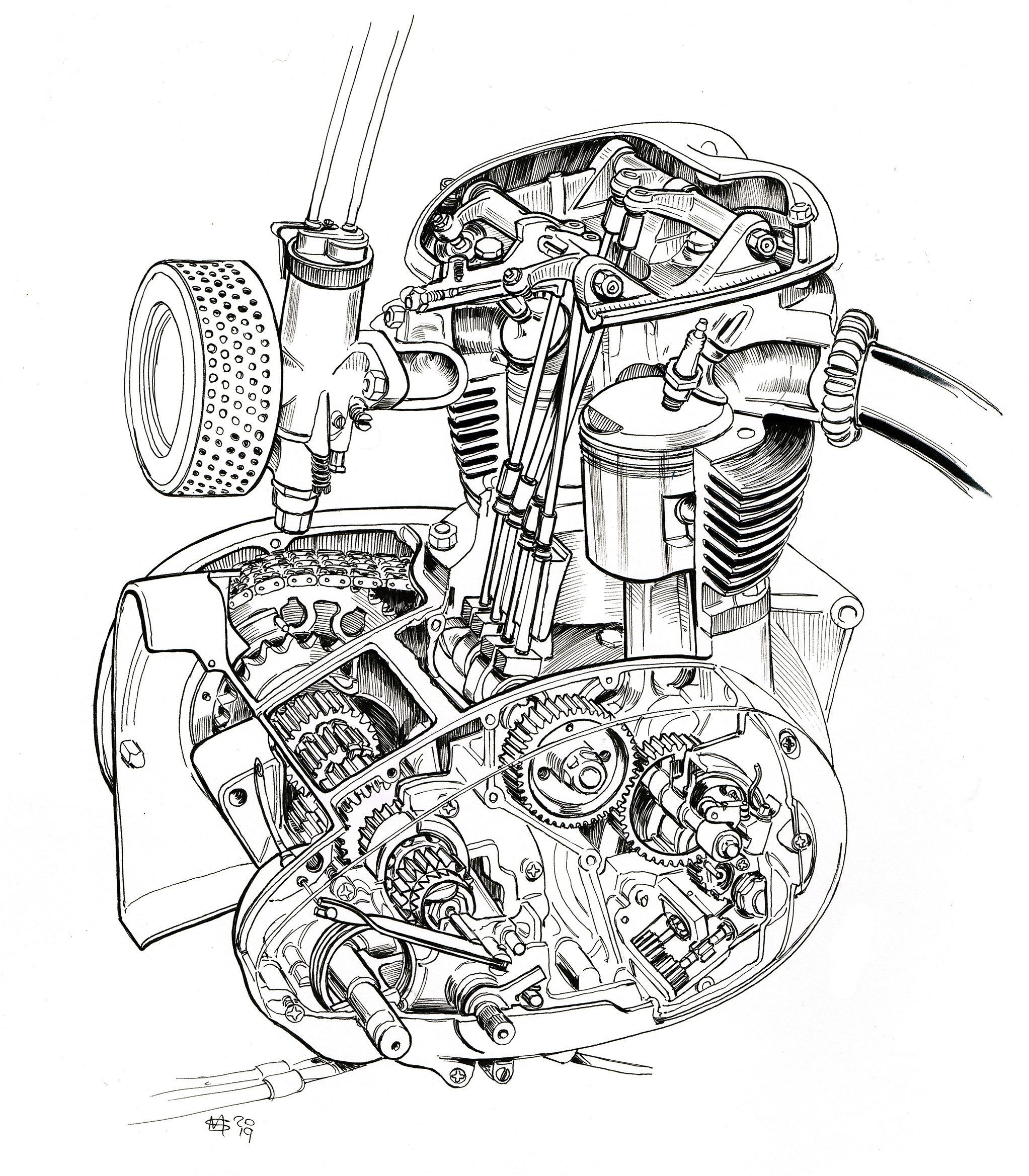 stock stories BSA A65 lightning engine