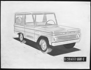 McKinley Thompson - Pencil drawing of the original Ford Bronco design