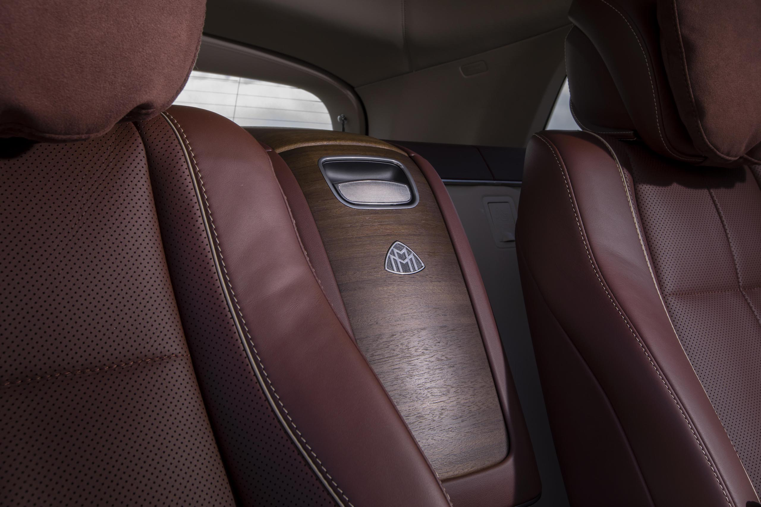 Mercedes-Maybach GLS 600 rear seat console detail