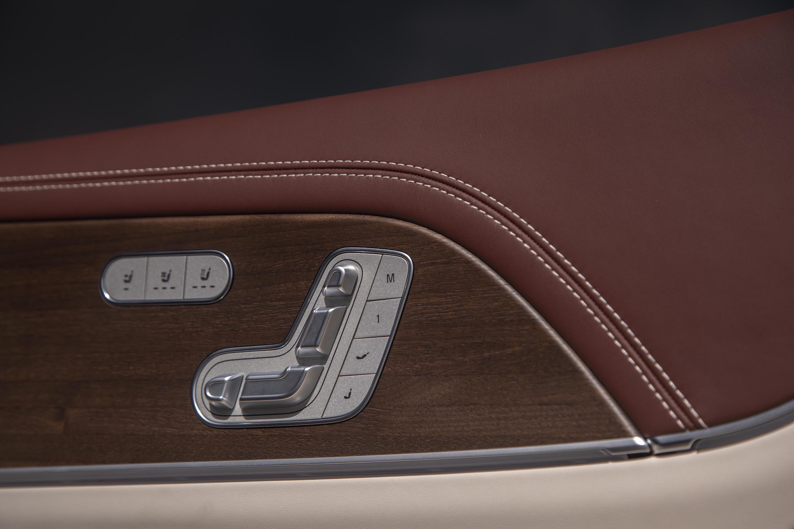 Mercedes-Maybach GLS 600 interior seat control position detail