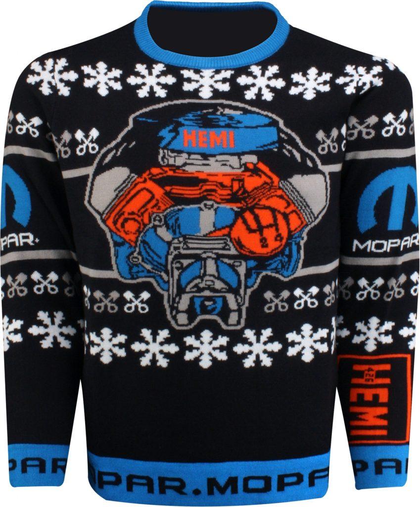 HEMI V-8 engine holiday sweater