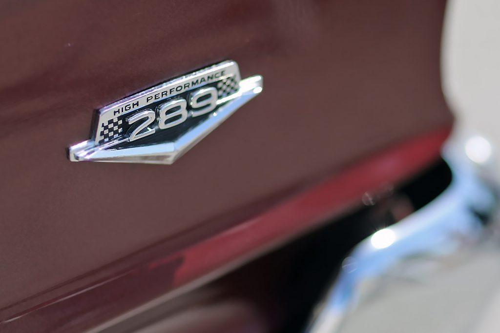 Mustang 289 High Performance Emblem