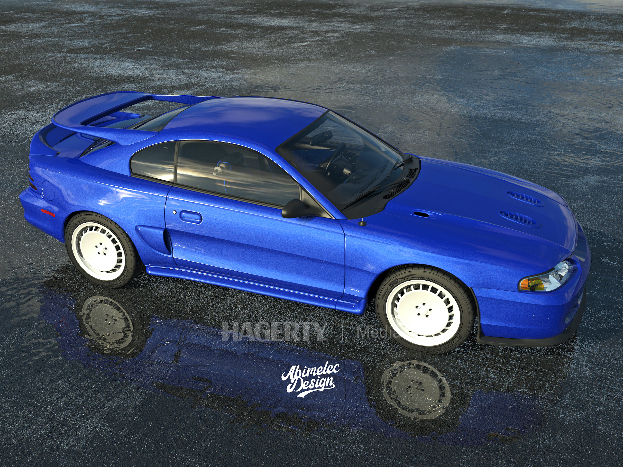 Mustang Cosworth blue