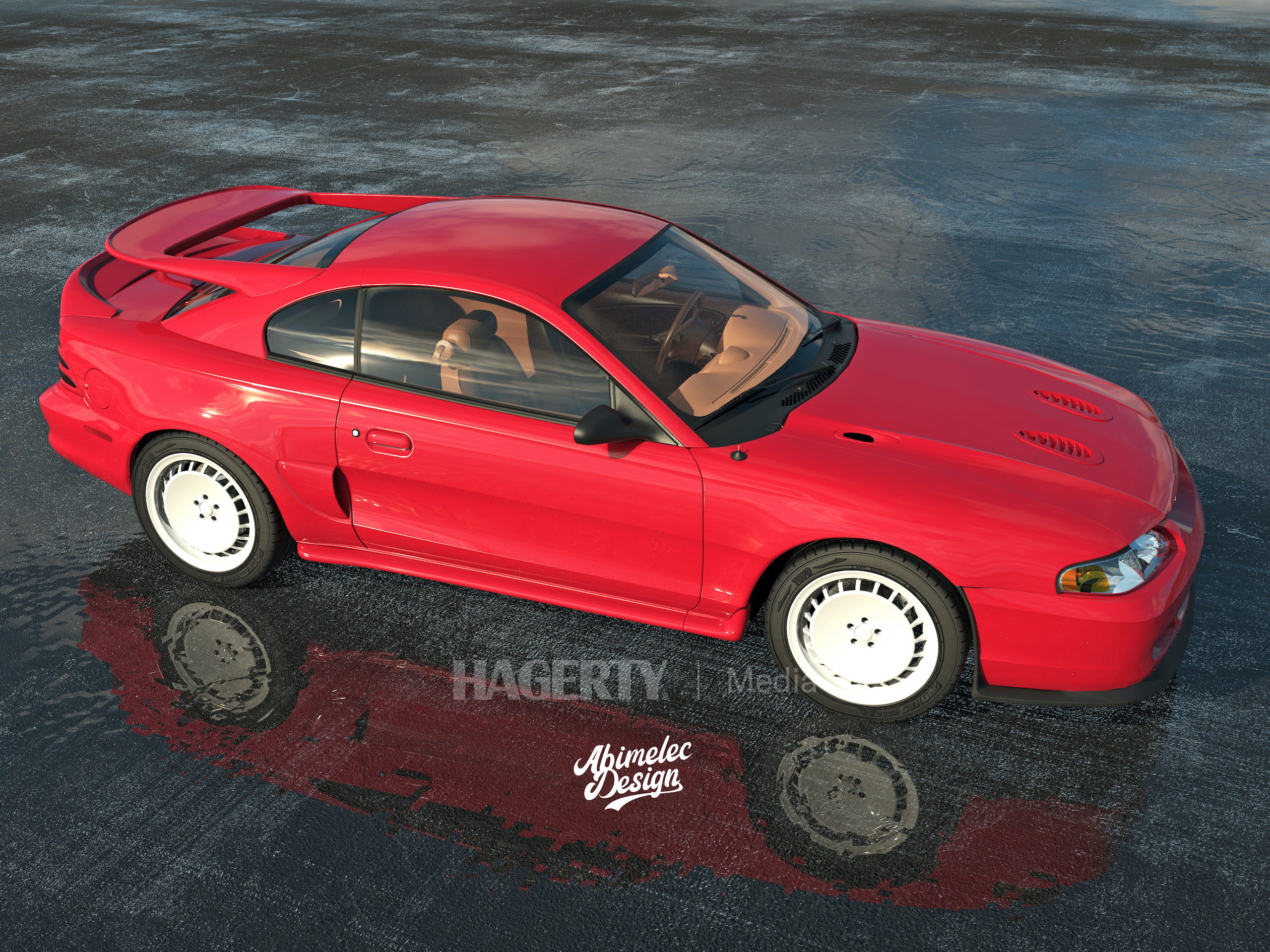 Mustang Cosworth red