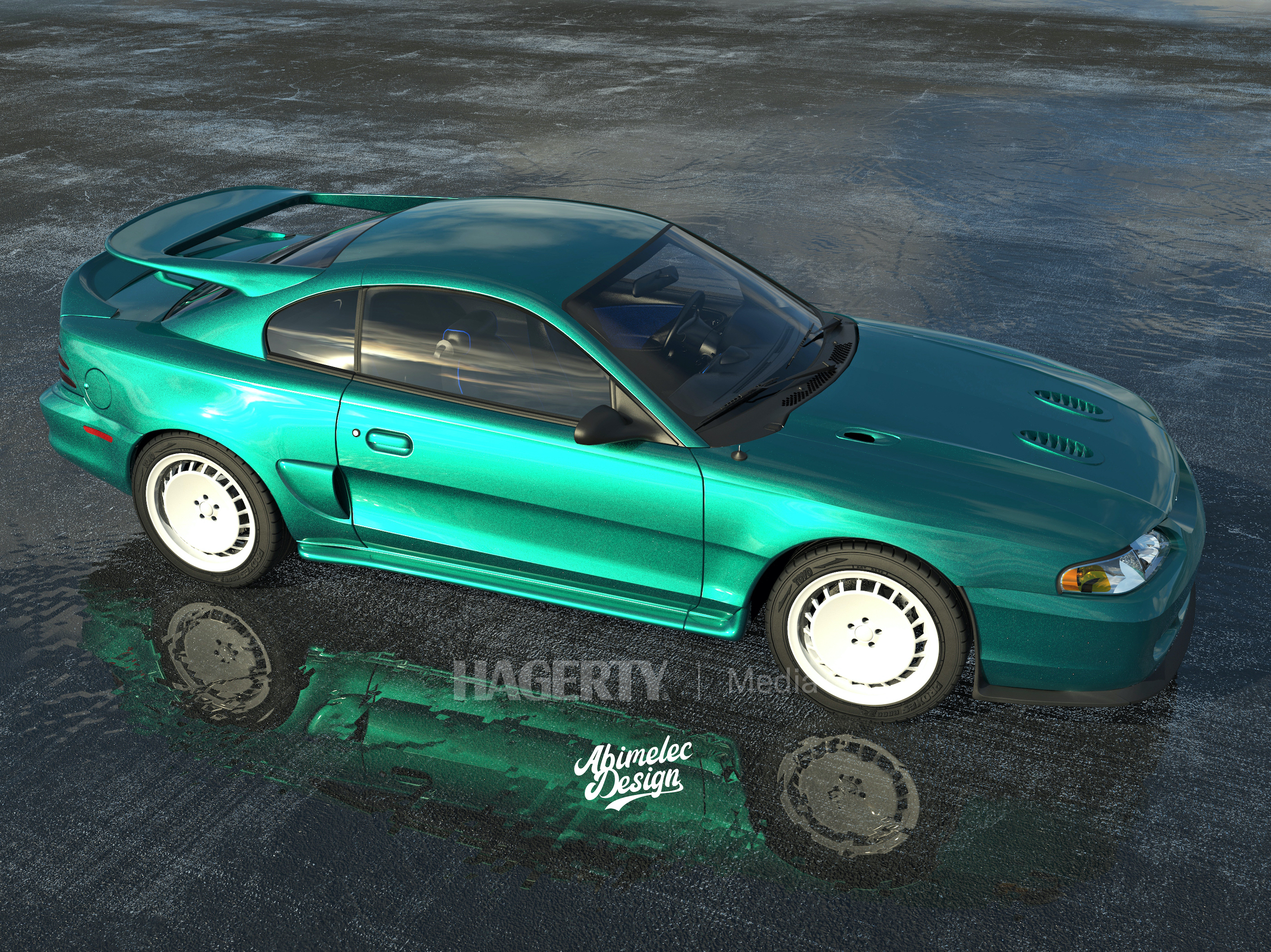 Mustang Cosworth green