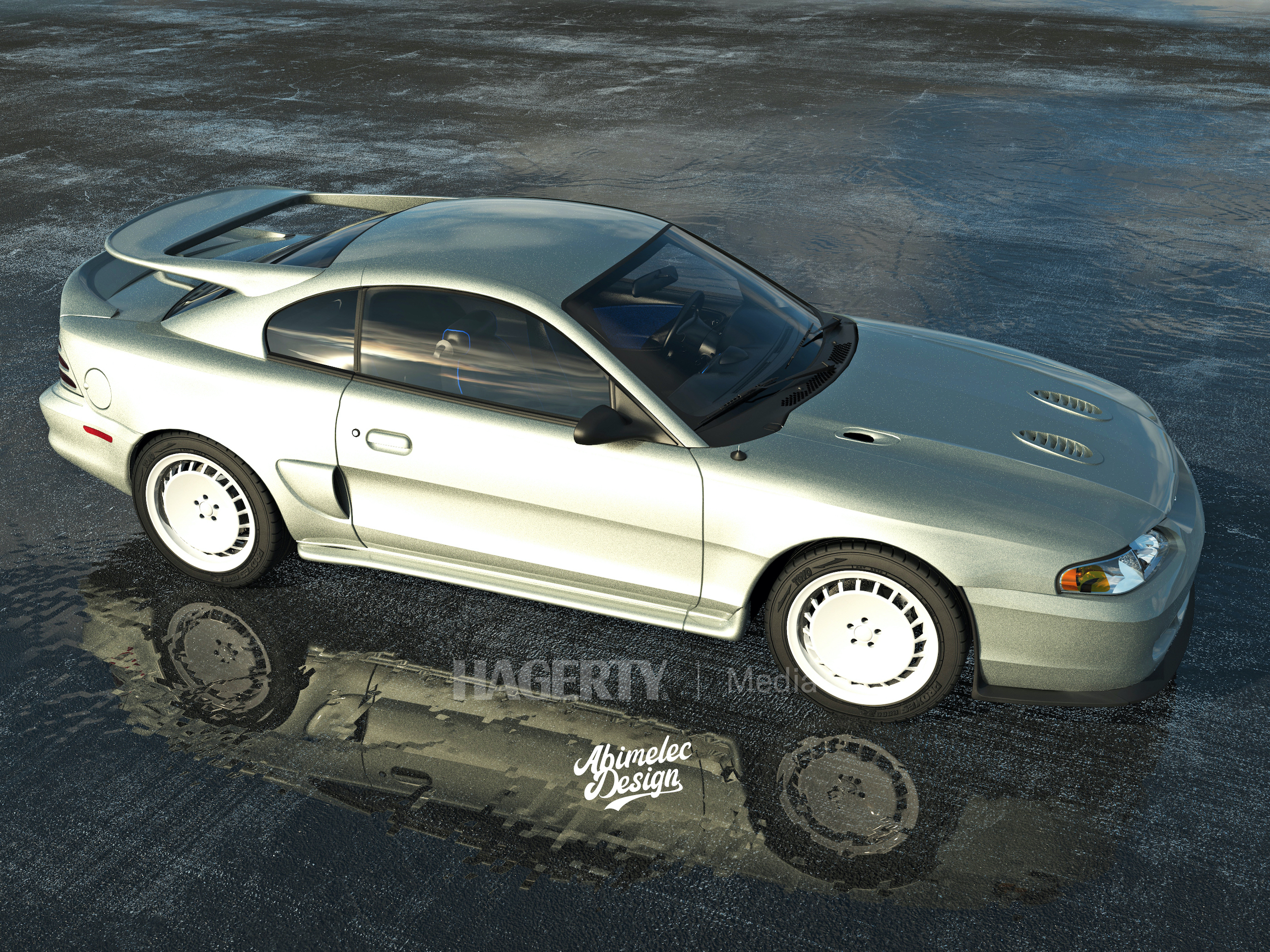 Mustang Cosworth silver