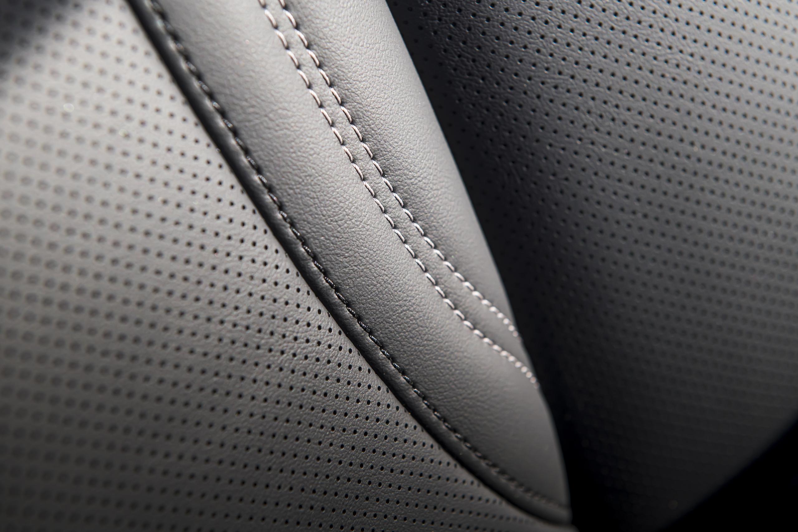 Mustang Mach-E seat stitch detail