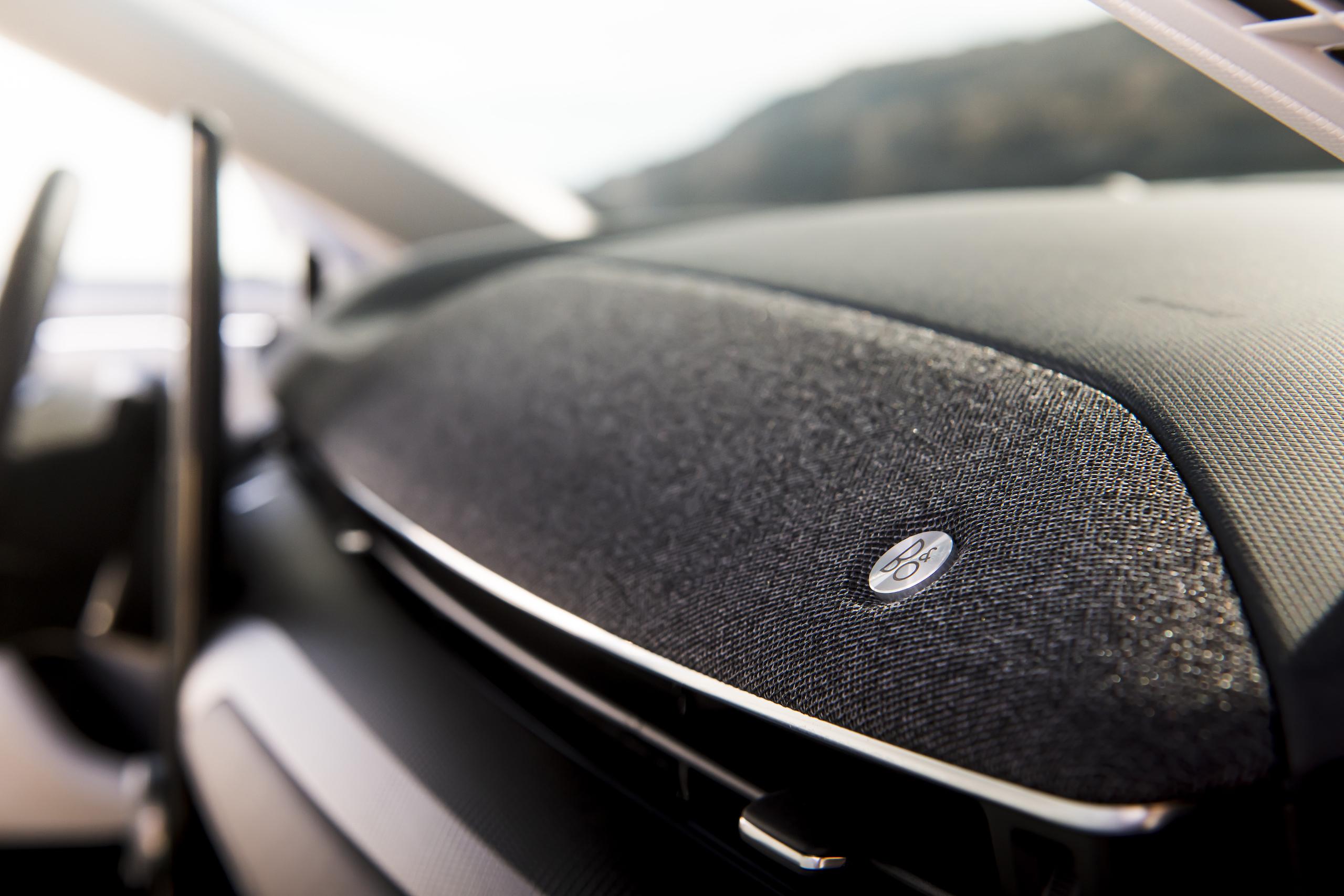 Mustang Mach-E front dash detail bang olufsen