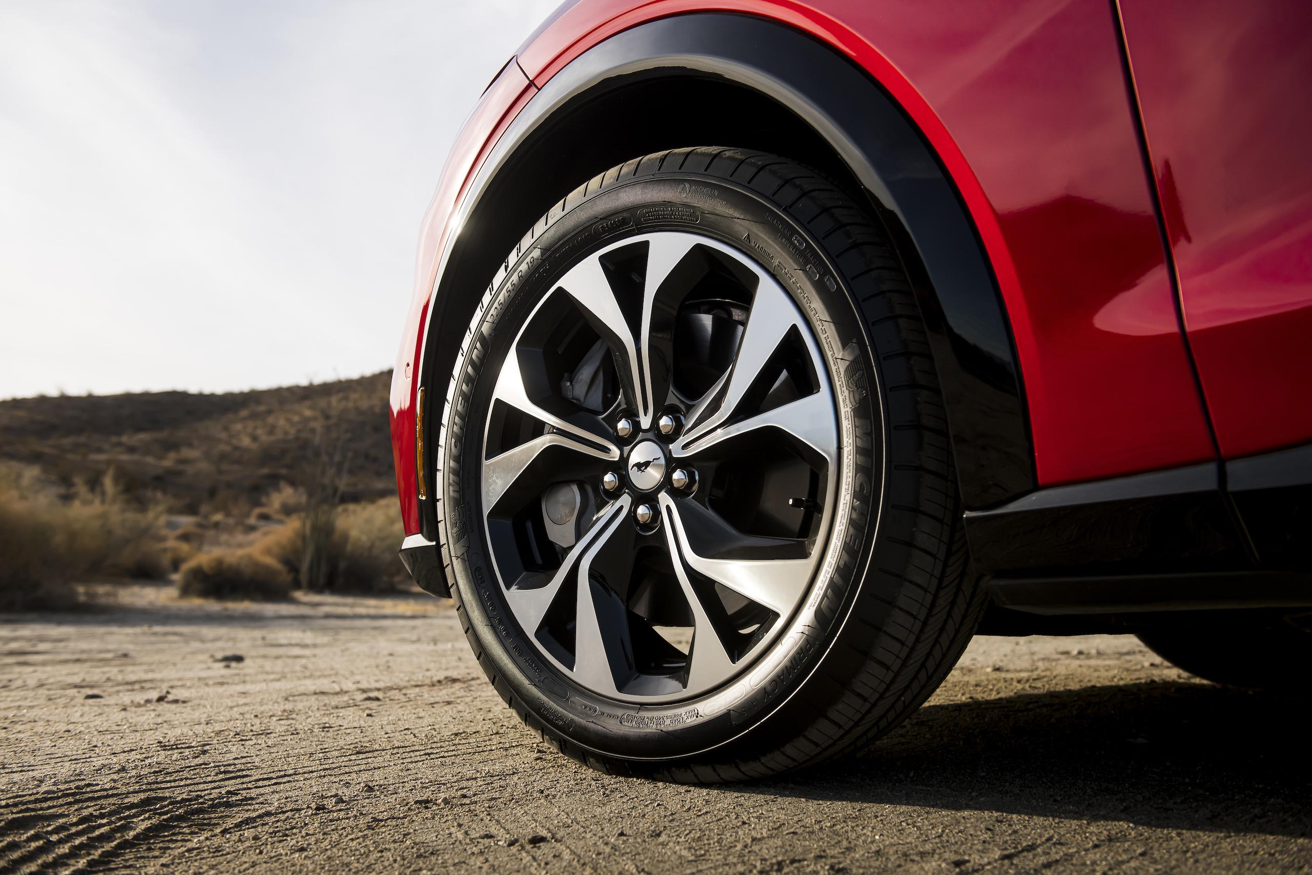 Mustang Mach-E front wheel detail