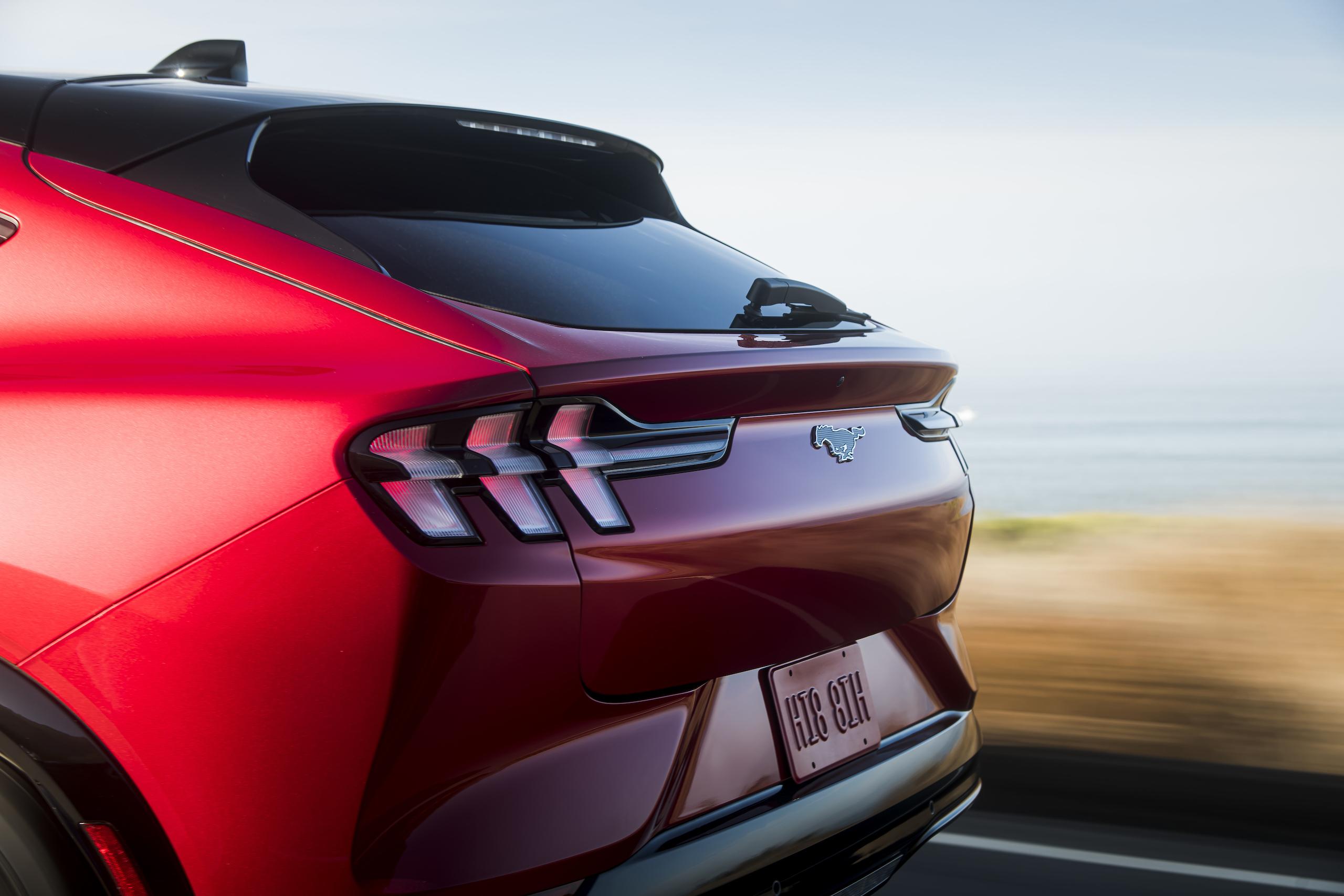 Mustang Mach-E rear fascia detail