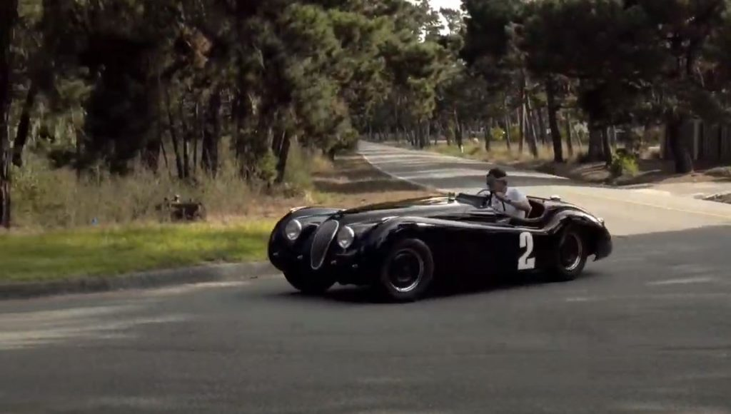 Pebble Beach Road Races - Derek Hill drives 1950 Jaguar XK120 - action 2