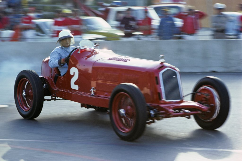 Phil Hill in 1934 Alfa Romeo P3 vintage car race
