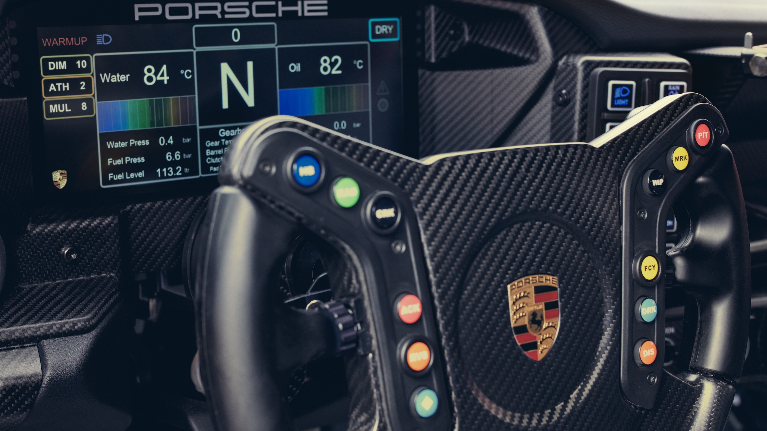 Porsche 911 GT3 interior wheel and dash details
