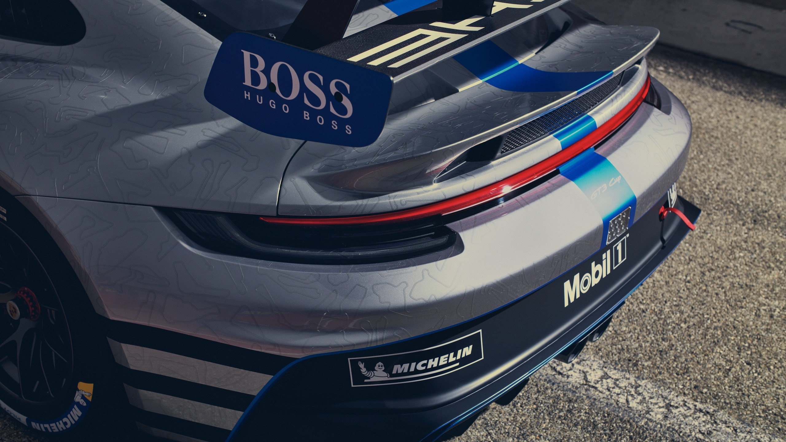 Porsche 911 GT3 rear fascia detail